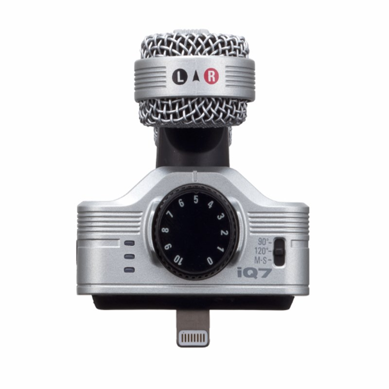 iOS İçin Zoom IQ7 Stereo Kayıt Mikrofonu iPhone/iPad/iPod