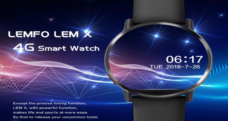 Lemfo LemX Akıllı Saat Türkiye LTE 4G Sim Kart Wifi 2.03 inç