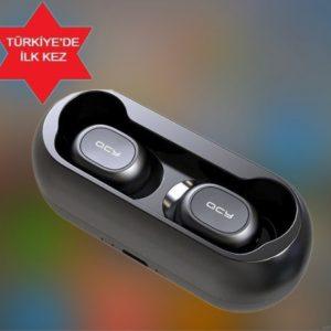 QCY T1C Çift Mikrofonlu Şarj Edilebilir Bluetooth Kulaklık