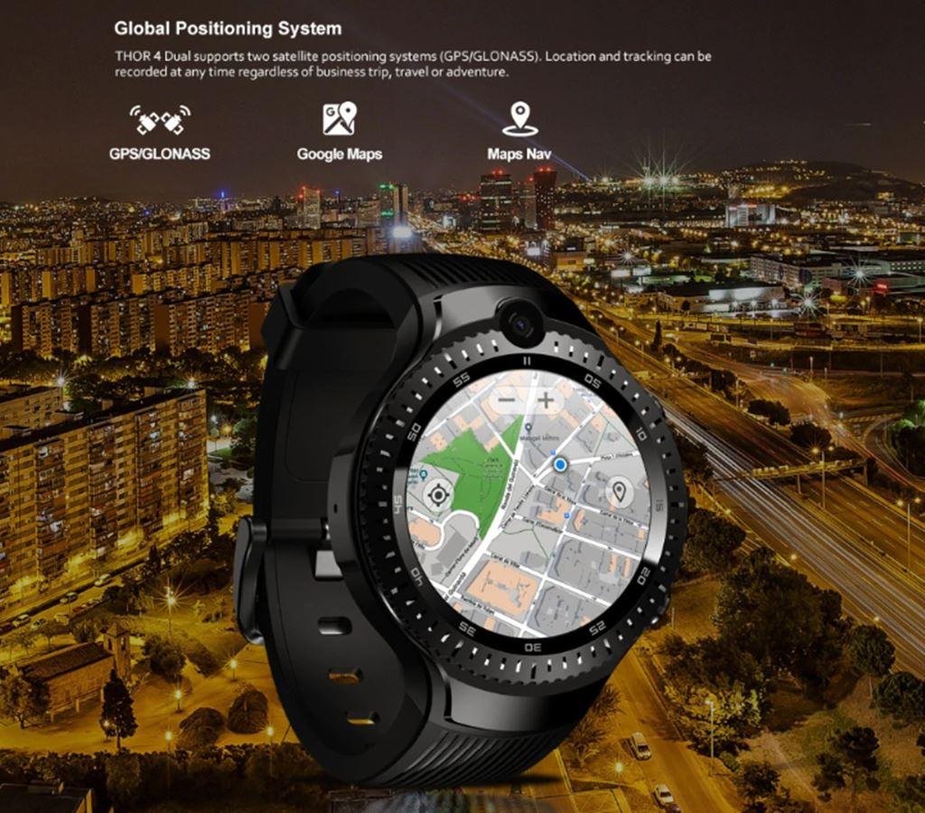 Yeni Zeblaze THOR 4 Çift 4G Akıllı Saat 5.0MP + 5.0MP Çift Kamera
