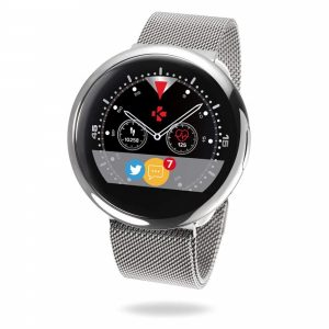 MyKronoz ZeRound2 HR Elite Smartwatch with Heart Rate Monitoring and Smart Notifications, Swiss Design, iOS and Android