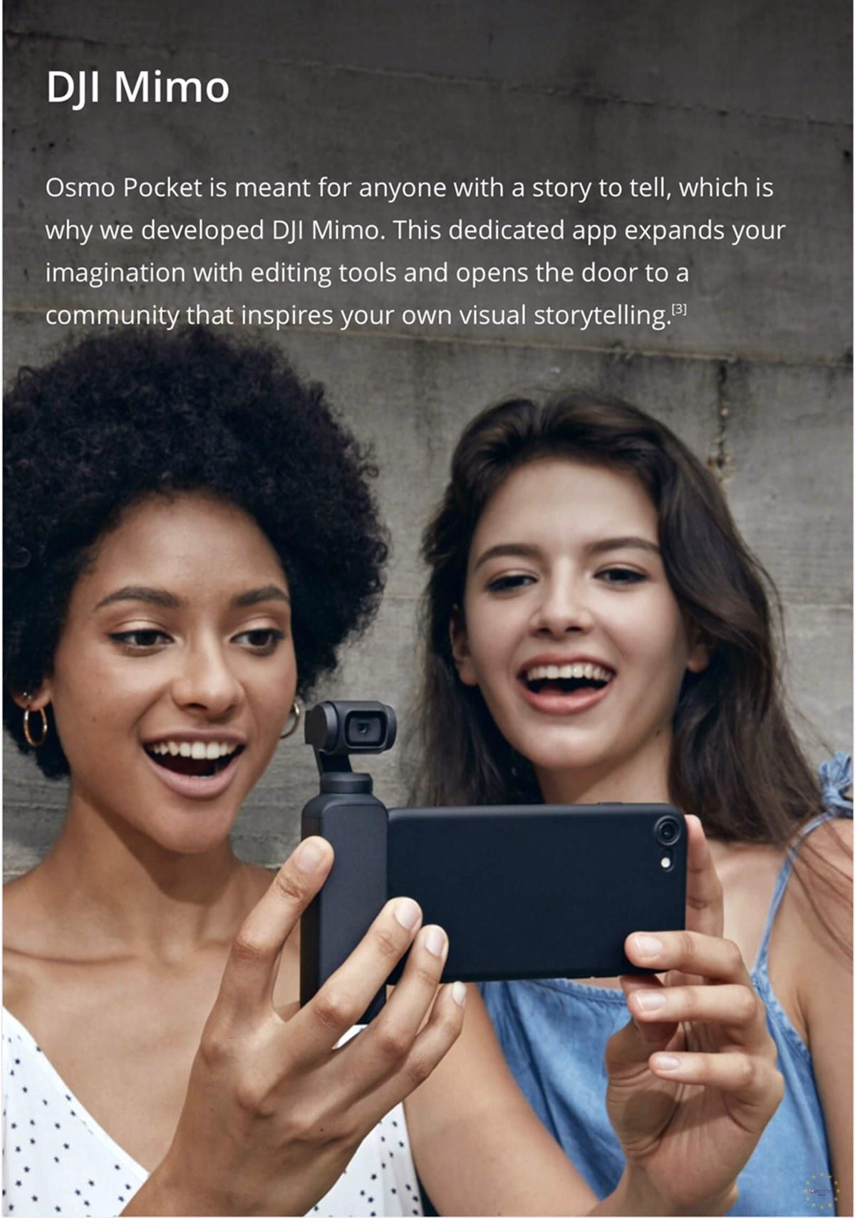 DJI Osmo Pocket Gimbal Kamera Akıllı Telefonlara Takılabilir