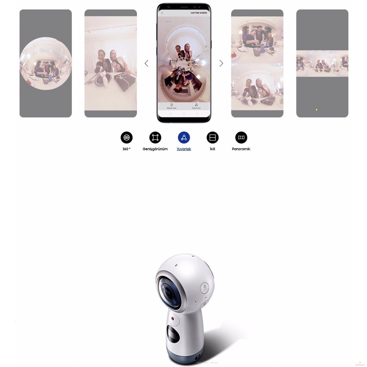 Samsung SM-R210 Gear Gerçek 360 4K VR Kamera
