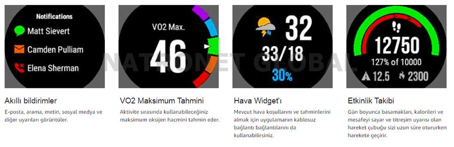 Garmin Orijinal Akıllı Saatler NatroNet Global Garmin SmartWatch