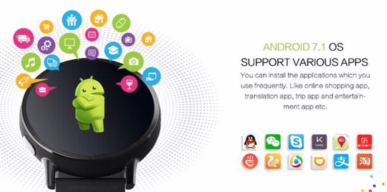 Lemfo Lem X 4G LTE Sim Kartlı Resmi İMEİ Kayıtlı Akıllı Saat Türkiye
