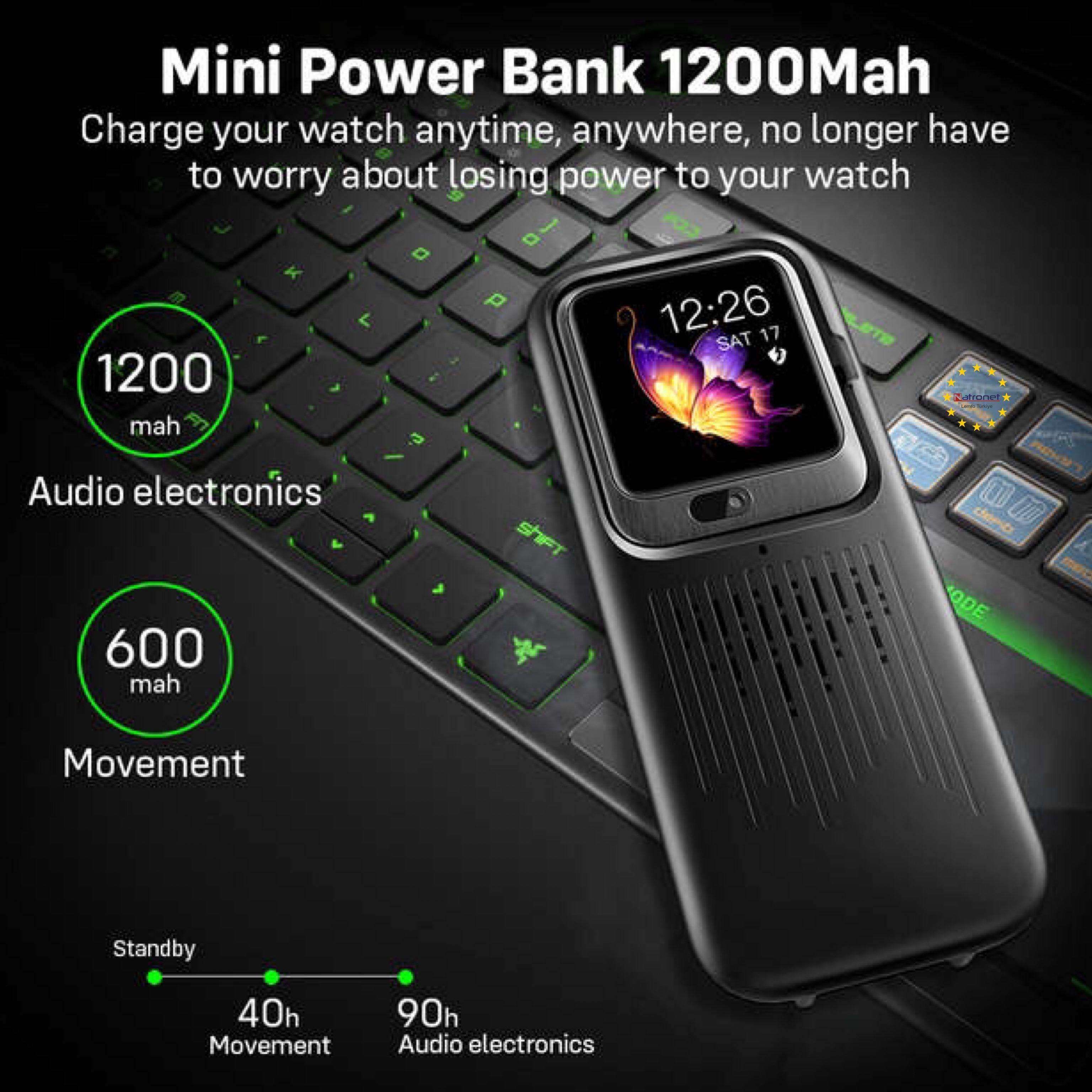LEMFO LEM11 4G Akıllı Saat Android 7.1 3GB 32GB Görüntülü Görüşme 1200mah Powerbank kablosuz bluetooth Hoparlör Değiştirilebilir Kordon