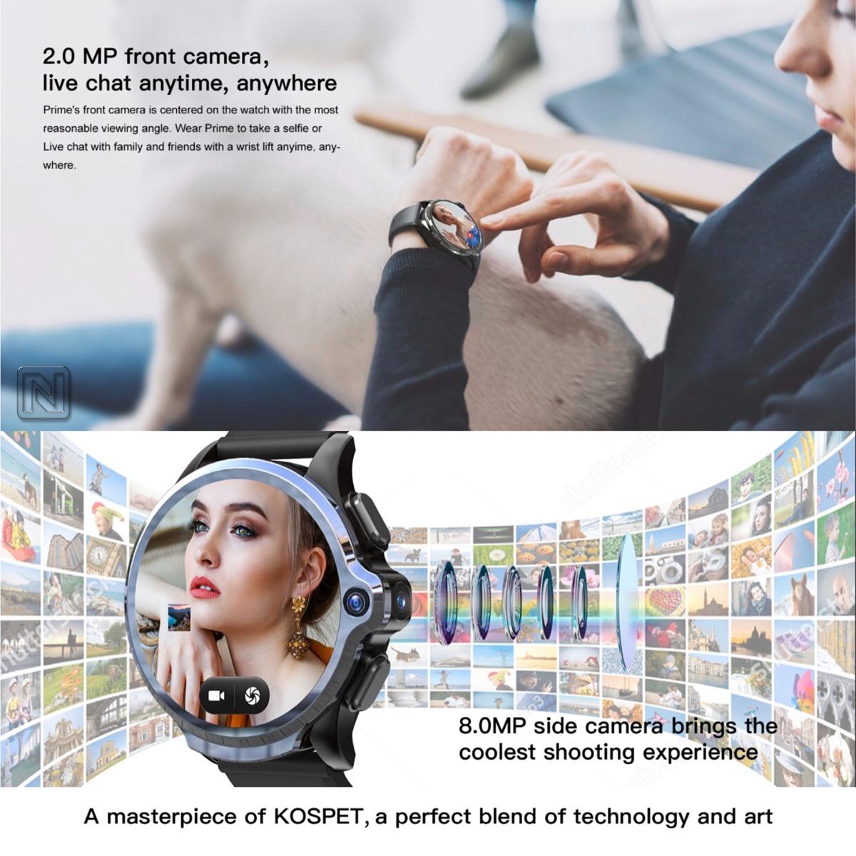 "Kospet Prime 1.6"" 'Yüz Tanıma 1260 mAh Batarya 3G + 32G Çift Kamera 4G LTE"