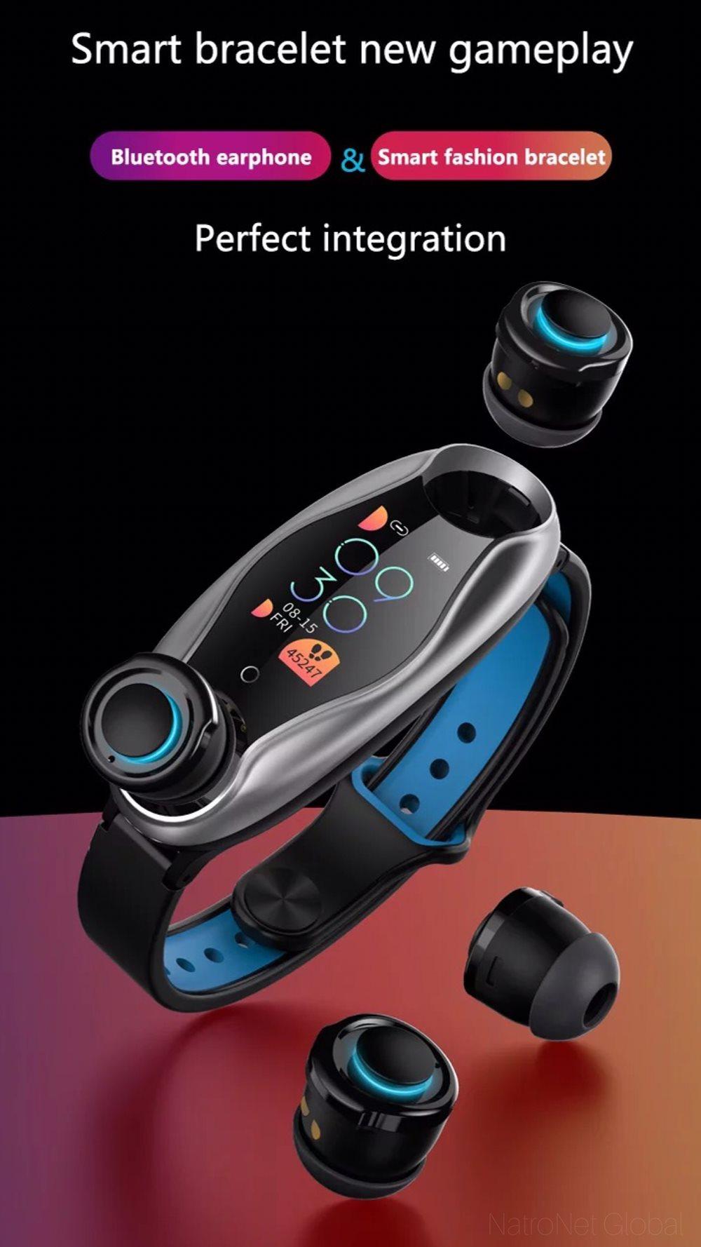LEMFO LT04 Kablosuz Bluetooth Telefon Kulaklığı Renkli Ekran Akıllı bilekliK BT5.0