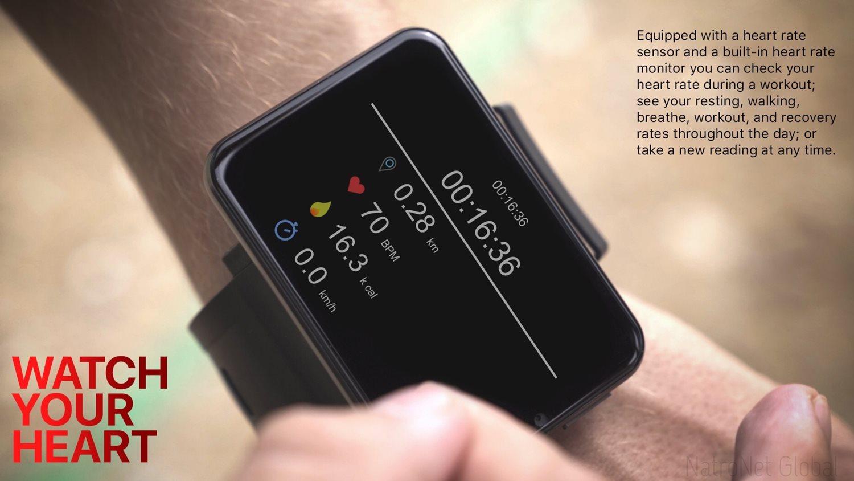 LEMFO LEM T 4G LTE Android 7.1.1 Akıllı Saat - 2.86 İnch Ekran, 5MP Kamera