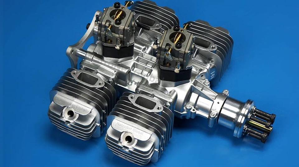 DLE-222 - 222CC Benzinli Model Motor - DLE-222 - 222CC Flat Four