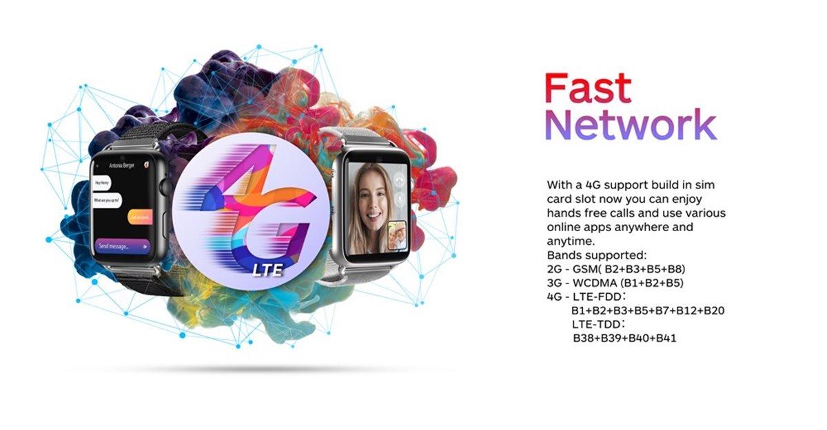 LEMFO LEM10 3 GB + 32 GB 1.82 İnch Büyük Ekran 4G GPS + GLONASS 2MP Ön Kamera