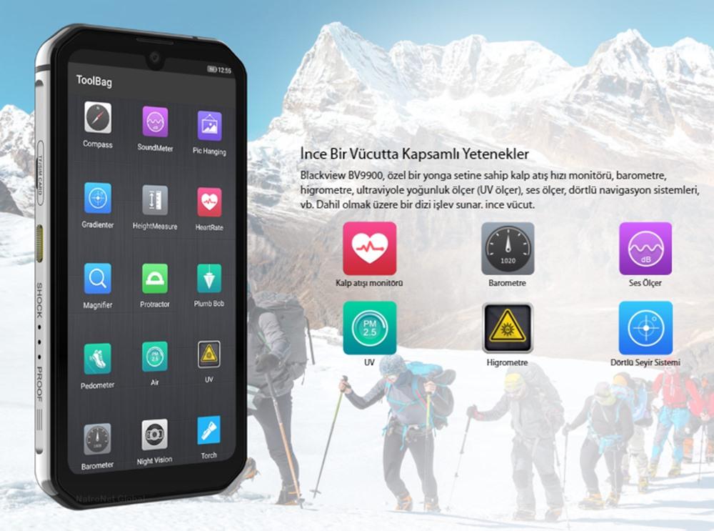 Blackview BV9900 Helio P90 Octa çekirdek 8GB + 256GB IP68 Android 9.0 48MP Kamera