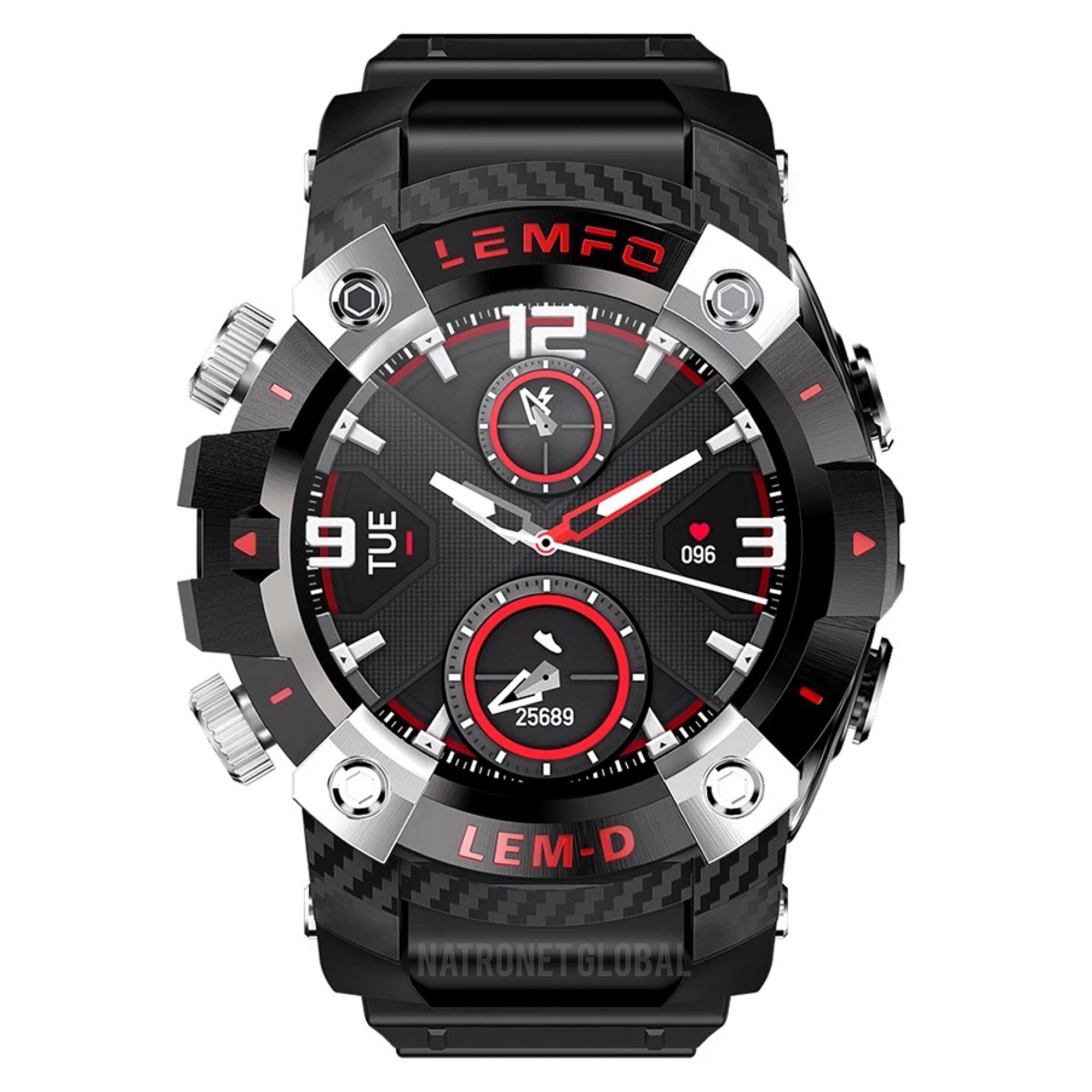 LEMFO LEMD: Yeni LEMFO LEMD Kablosuz Bluetooth 5.0 kulaklıklı Akıllı Saat