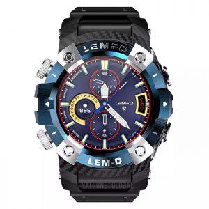 LEMFO LEMD akıllı saat kablosuz Bluetooth 5.0 kulaklık 2 In 1 360*360 HD ekran