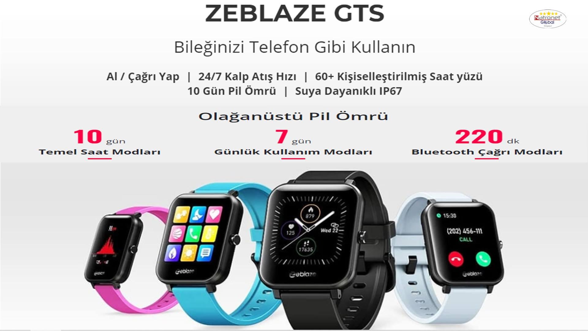 ZEBLAZE GTS Akıllı Saat Bileğinizdeki Asistan