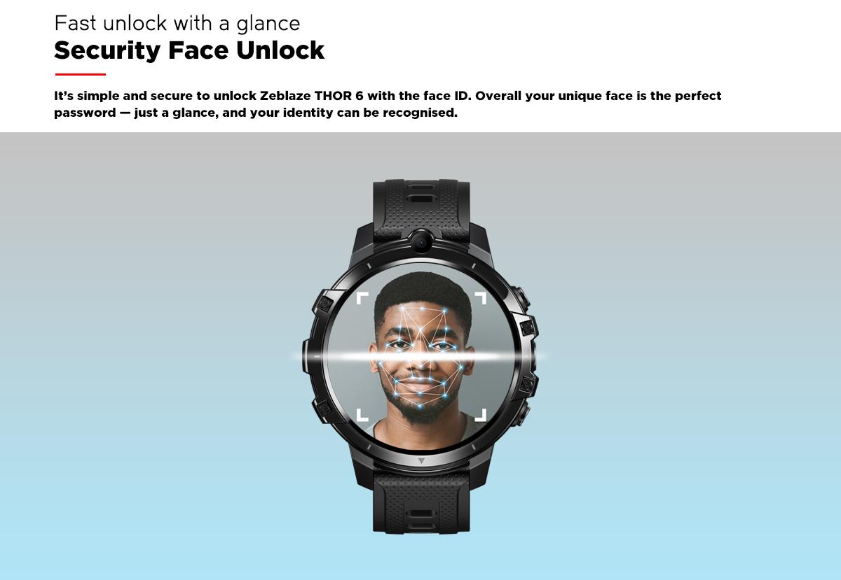 Zeblaze Thor 6 4GB Ram + 64GB Rom Android 10 4G SimKartlı Akıllı Saat
