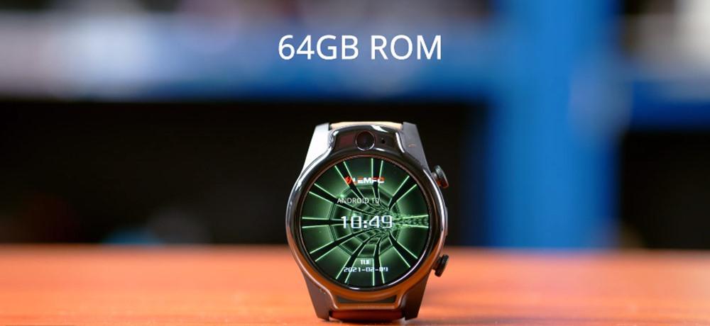 Lemfo Lem14 Sim Kartlı Android 10 Helio P22 Çipli 4+64 GB 4G LTE 1100 mAh Bataryalı Akıllı Saat