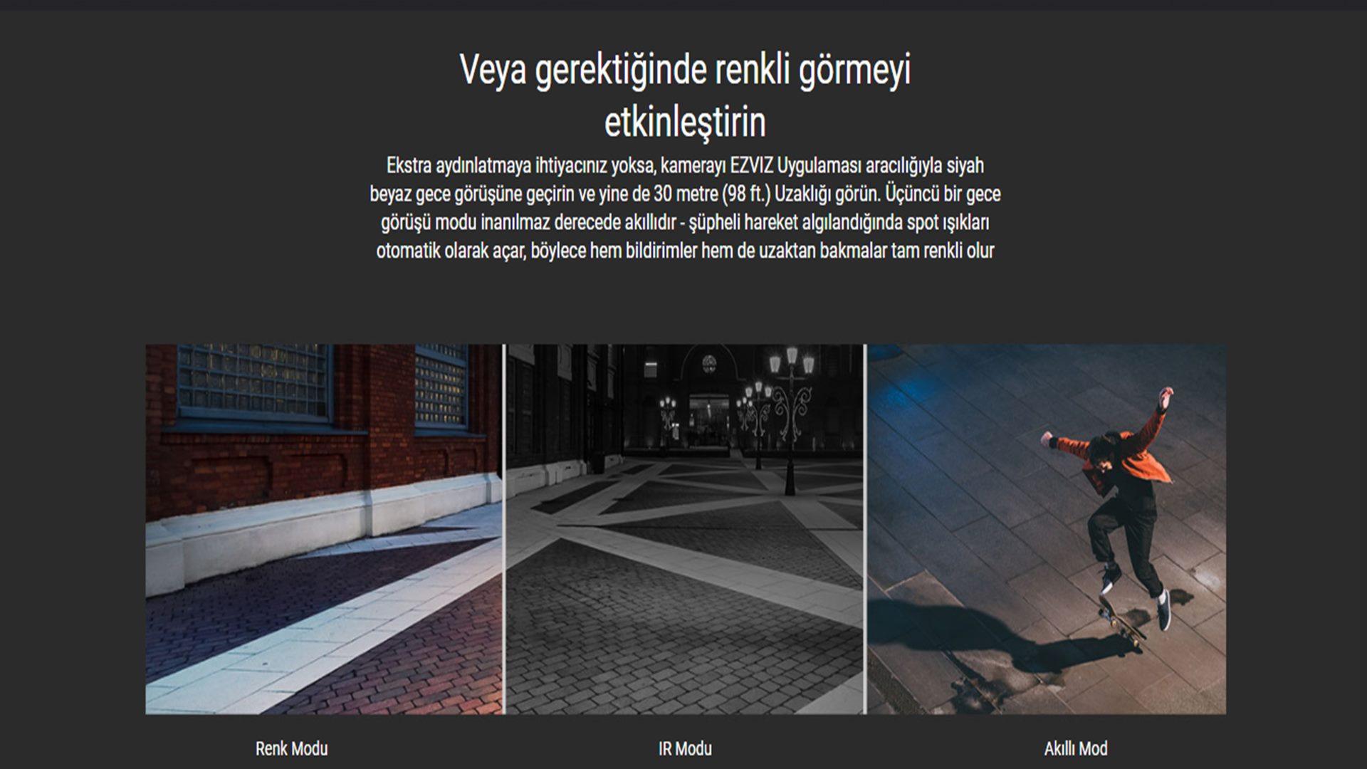 EZVİZ C3W Pro Renkli Gece Görüşlü Dış Mekan Güvenlik Kamerası