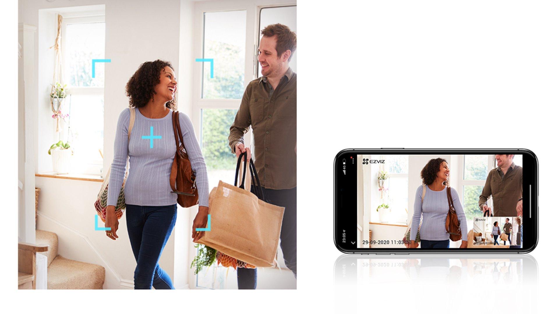 EZVİZ C6W Pan Tilt WiFi Kamera Zarif ve Çok Yönlü İhtiyacınız Olan Güvenlik