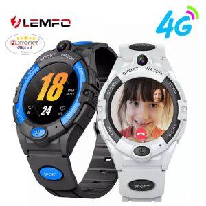 LEMFO SİM kartlı Çocuk takibi akıllı saat 4G GPS Video çağrı Wifi