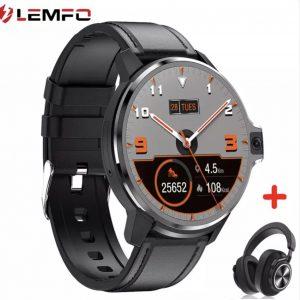 LEMFO LEMP Akıllı Saat 4G GPS Wifi Android çift sistem 64GB ROM 1050Mah Batarya