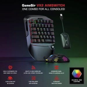 Gamesir vx2 aimwitch klavye fare ve xbox serisi x/s için adaptör seti