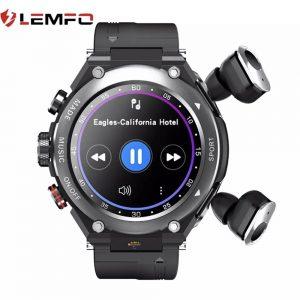 Lemfo T92 Akıllı Saat TWS 5.0 Bluetooth Kulaklıklar Çağrı Müzik Spor Termometre