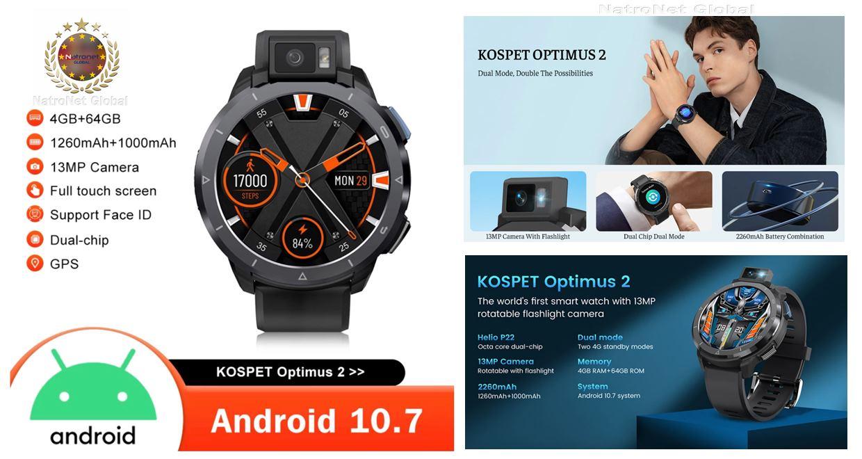 KOSPET OPTIMUS 2 Akıllı Saat Türkiye NatroNet Global